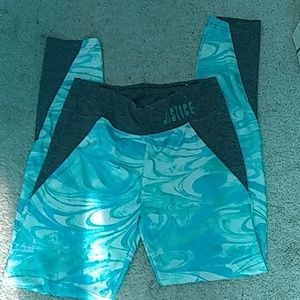 Blue swirl Justice leggings
